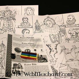 Set di colori e attività Tudor