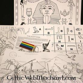 Ensemble de couleurs et d'activités Egypte ancienne