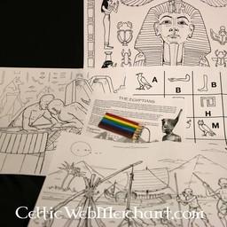 Conjunto de colores y actividades Antiguo Egipto