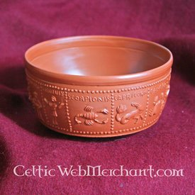 Romersk drikke skål med Stjernetegn i relief