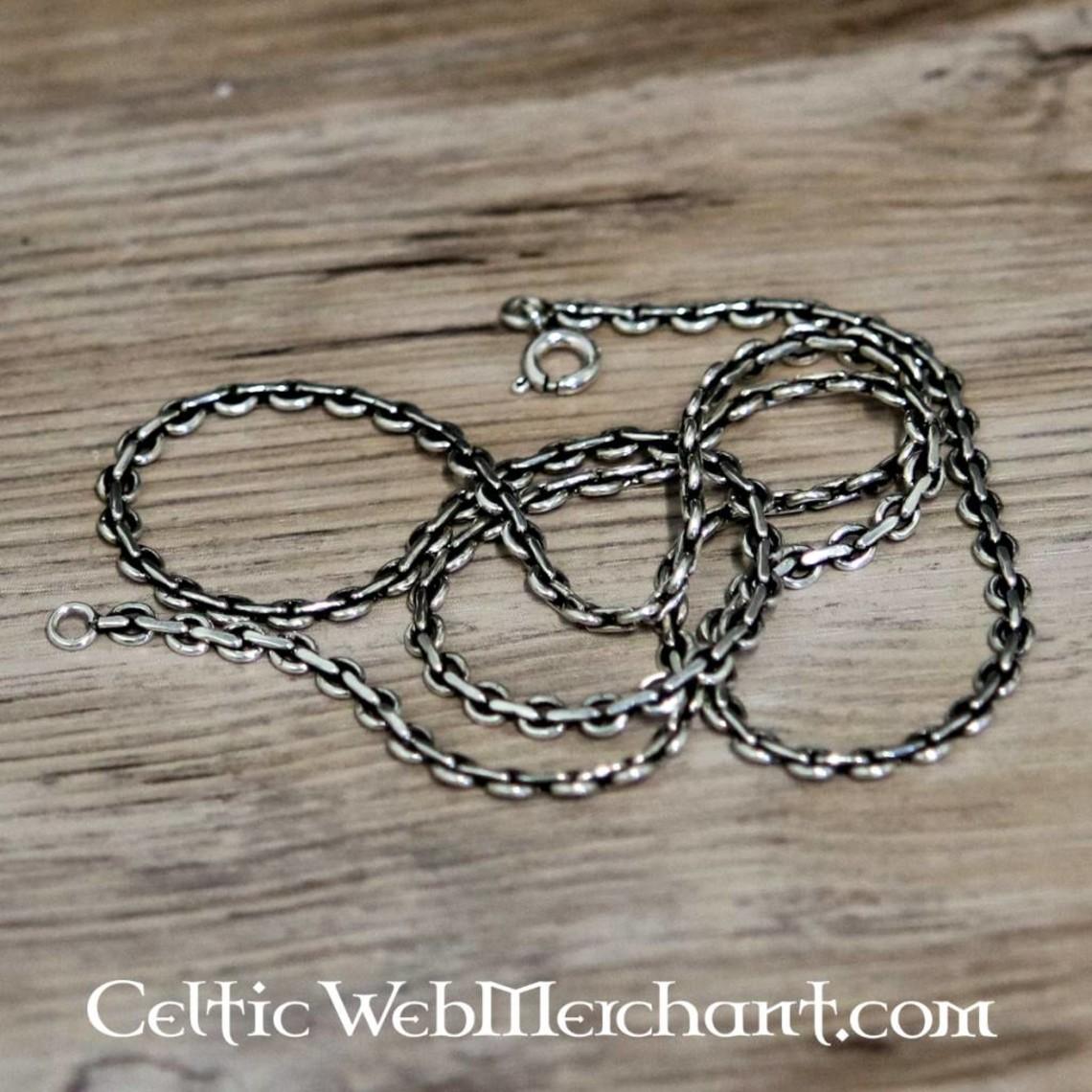 Collar de plata, 50 cm