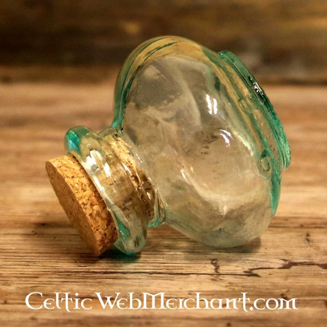 Okrągła szklana butelka