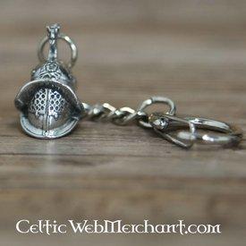 Porte-clés de casque de gladiateur