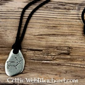 Neolithic hunting pendant Stag