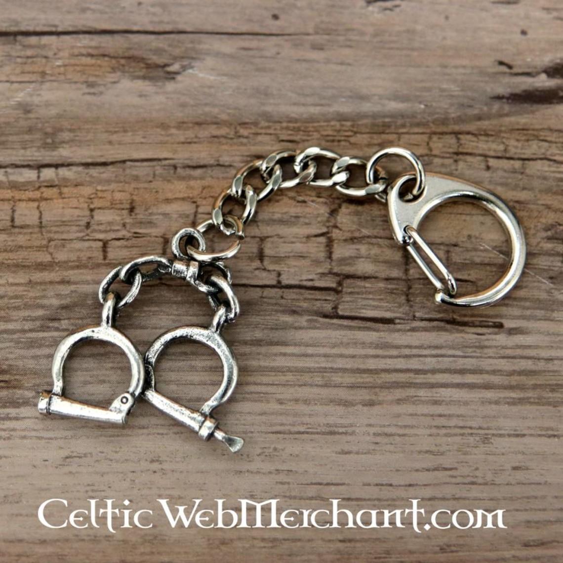 Hand cuffs keychain