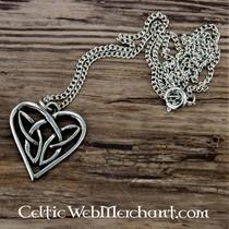 Celtic sea horse pendant, silvered