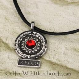 SPQR pendant, red