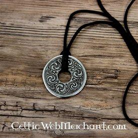 wisiorek dysk Księga z Kells