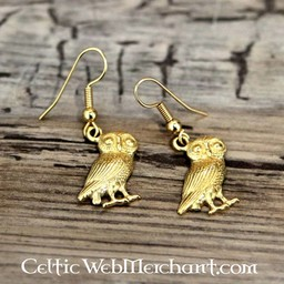 Roman owl earrings