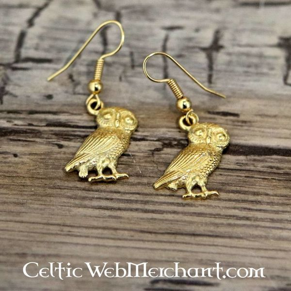 Boucles d'oreilles hibou romain