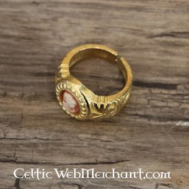 Cameo ring, forgyldt