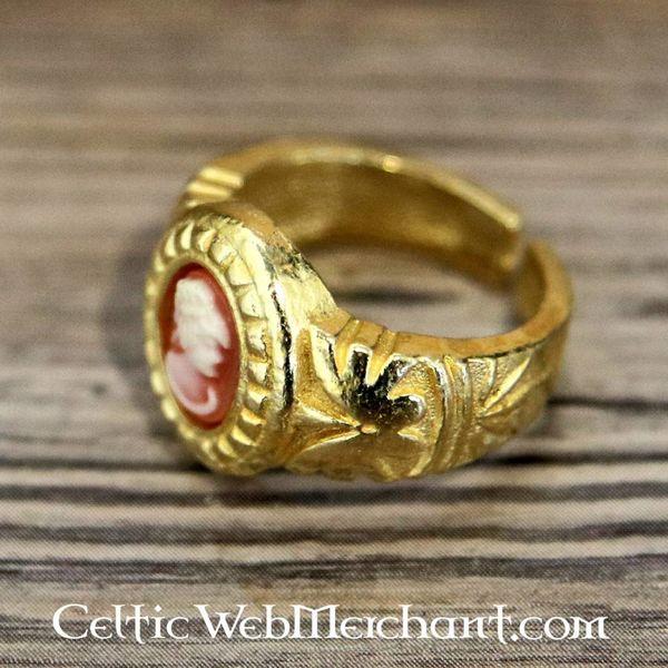 Cameo ring, forgyldt