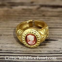 Cameo Ring, vergoldet