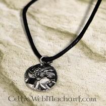 Græsk mønt vedhæng Athena