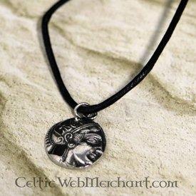 Greek coin pendant Athena