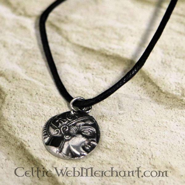 Grecki moneta wisiorek Athena