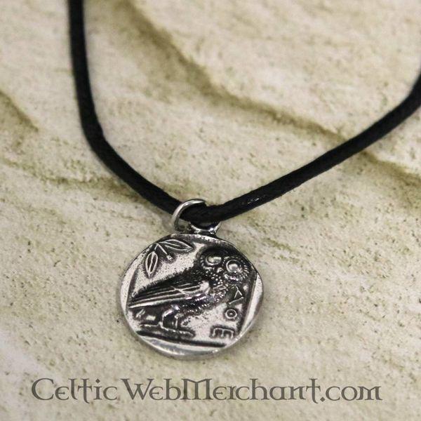 Colgante de moneda griega Athena
