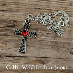 Knotted cross pendant