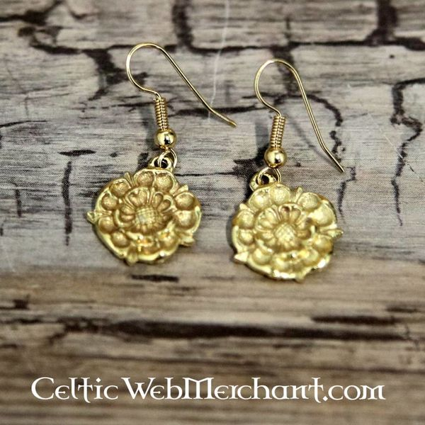 Boucles d'oreilles roses Tudor