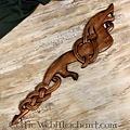 Houten Vikingdraak (rechtskijkend)