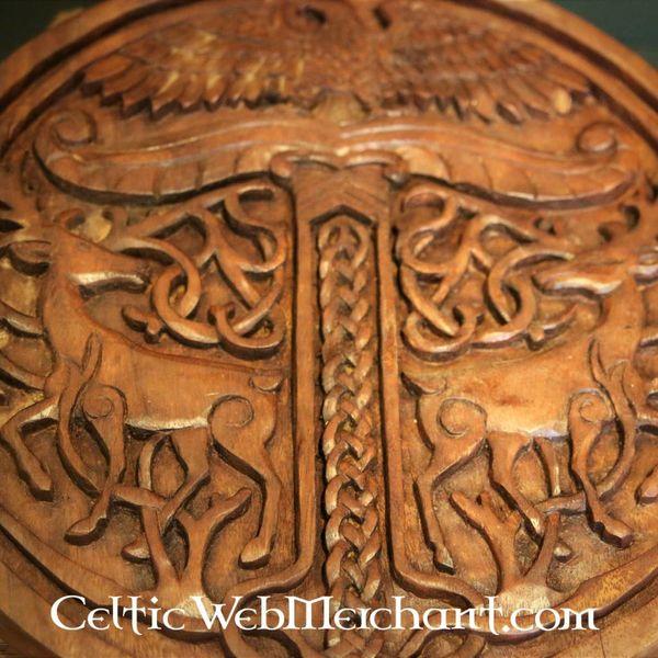 Yggdrasil madeira com veados