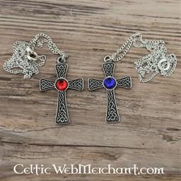 Wiązane krzyż wisiorek, niebieski