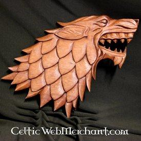 Escultura em madeira do lobo