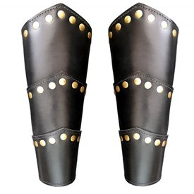 Leather vambraces Victor, black