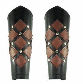 Leather vambraces Pius, black