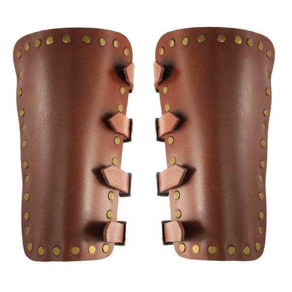 Leonardo Carbone Læder armskinner Marius, brun
