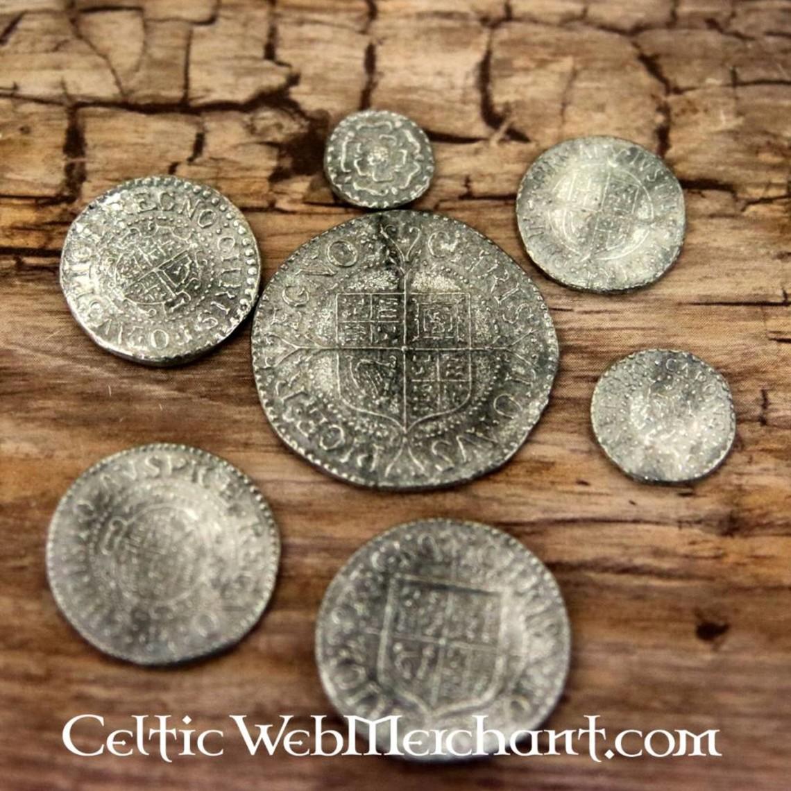 Charles I, set di sette monete