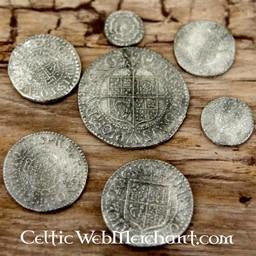 Karl I, sju mynt set
