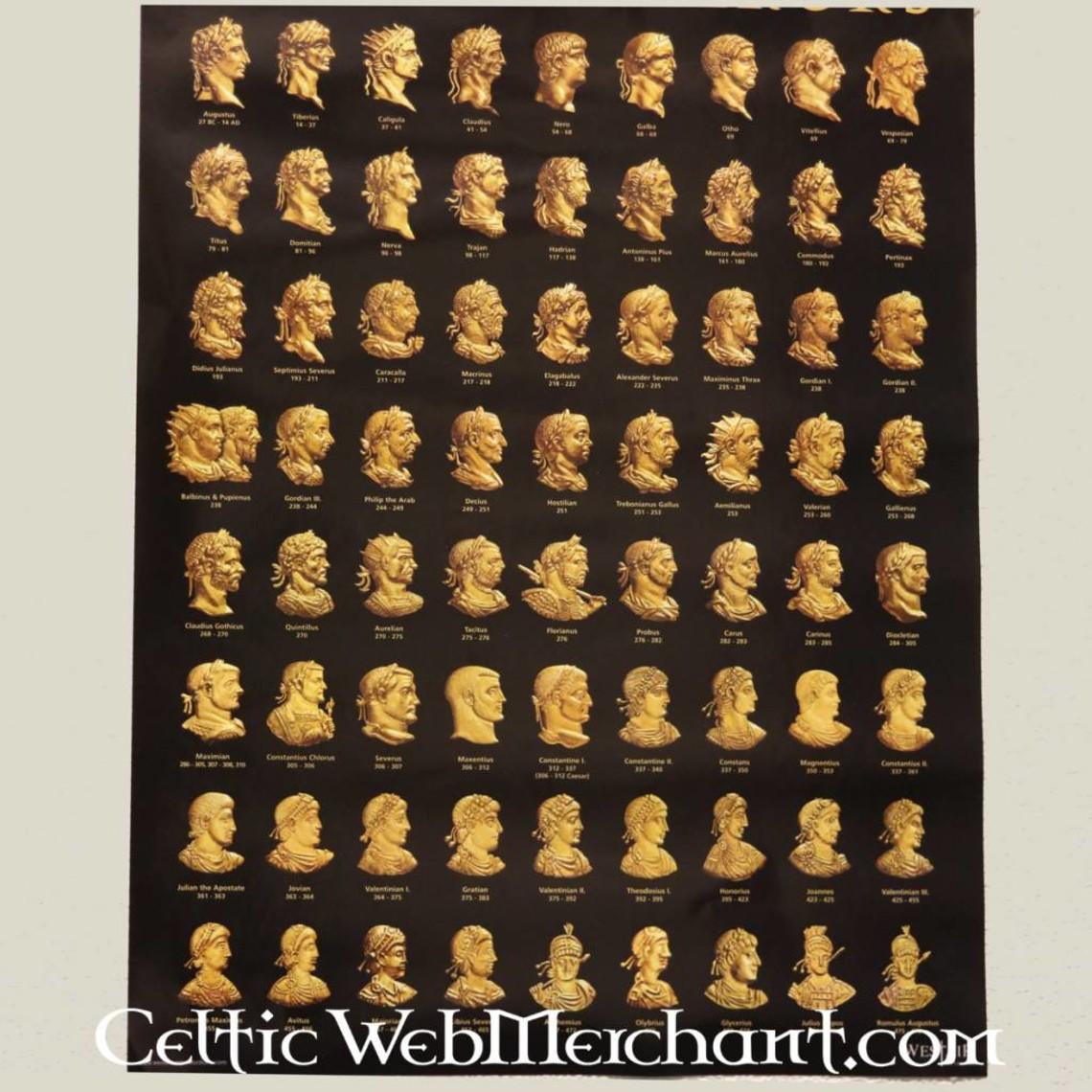 Plakat cesarzy rzymskich