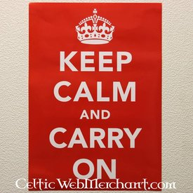 Poster Restez calme et continuez