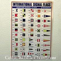 Plakat międzynarodowe flagi sygnałowe