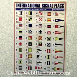 Poster Bandiere di segnale internazionali