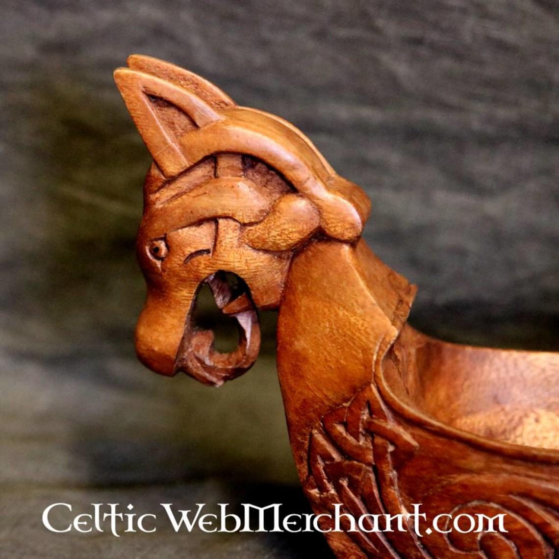 Viking miska z głów smoka
