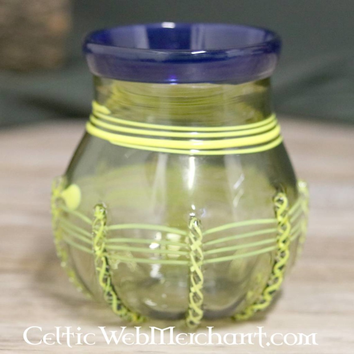 Decorated Birka glass, grave 649