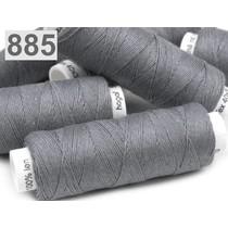 Linen garn mørkegrå 50m