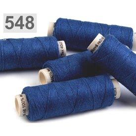Filato di lino blu royal 50m