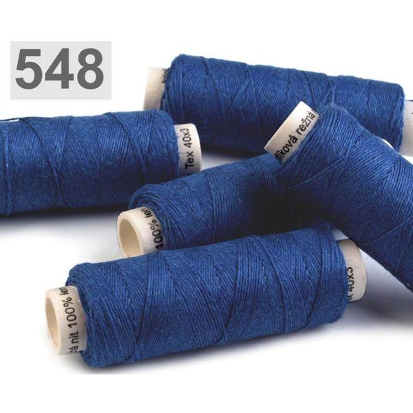 Linen garn kongeblå 50m