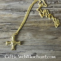Cuthbert cross gilded pewter