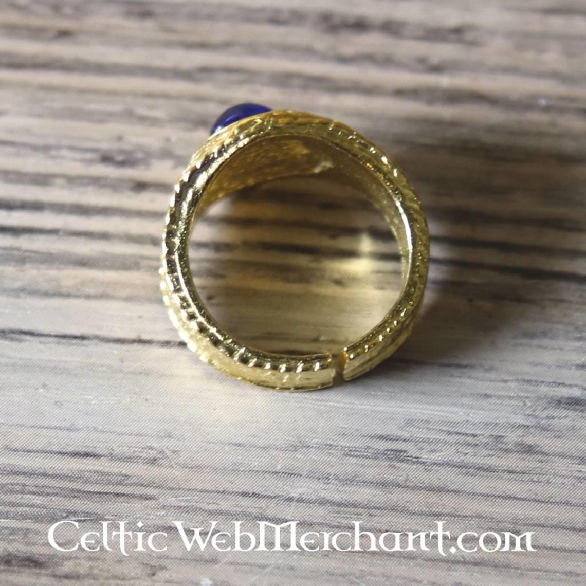 Gilded mittelalterlicher Ring, blau