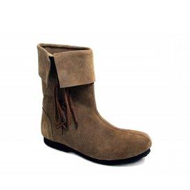 Historyczne dzieci buty brązowy