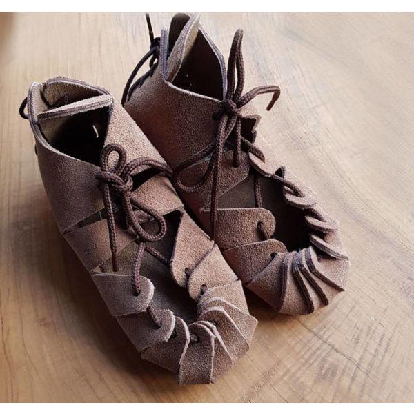 Järnålders sandaler för barn, brun