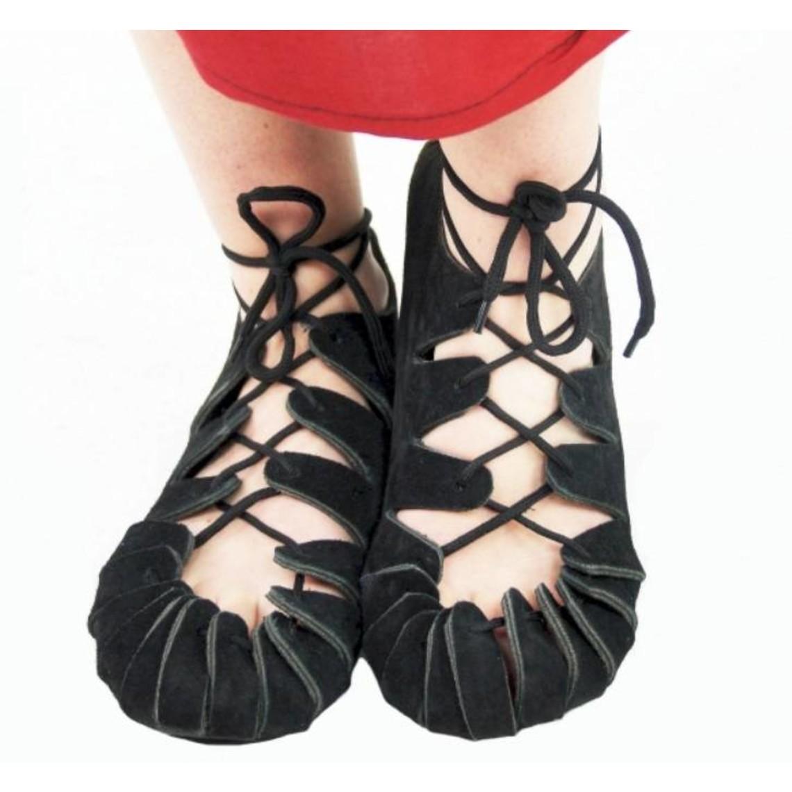 Leonardo Carbone sandały dla dzieci epoki żelaza, czarny