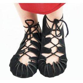 Sandalias de hierro para niños, negras