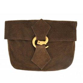Väska med varg spänne, brun