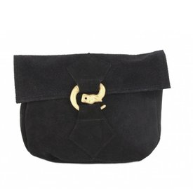 Bag with wolf buckle, black