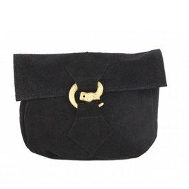 Väska med varg spänne, svart